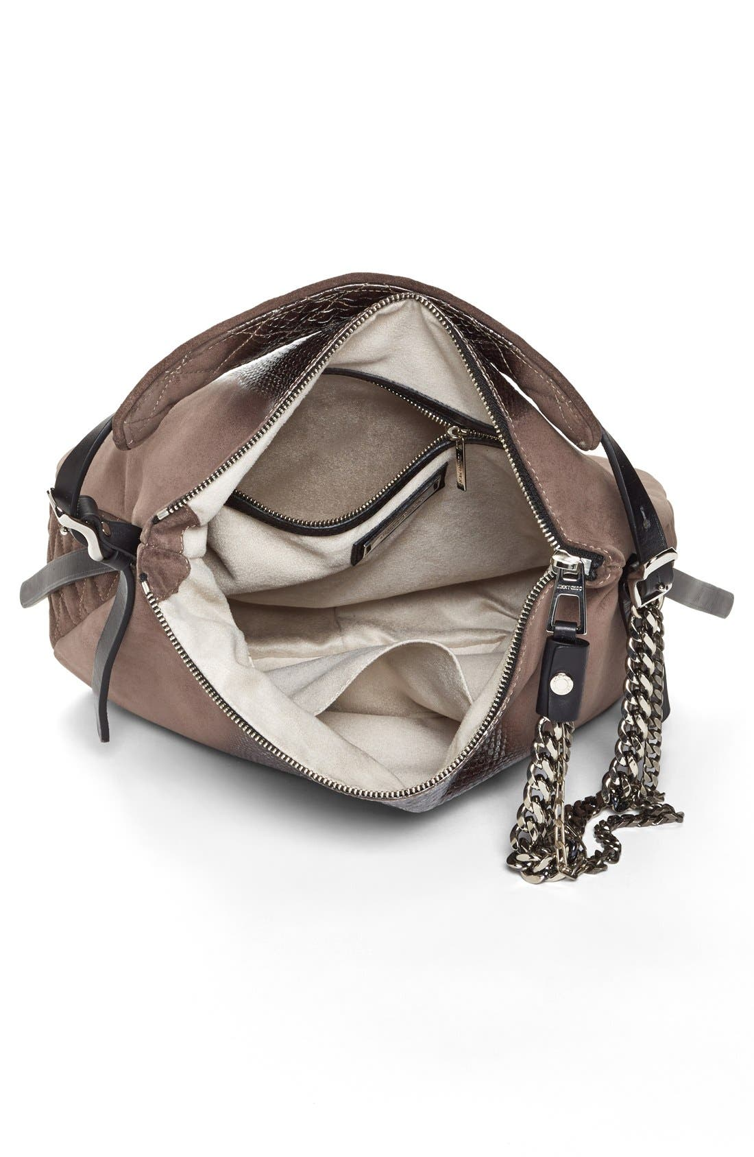 Alternate Image 3  - Jimmy Choo 'Small Boho' Python Print Suede Hobo