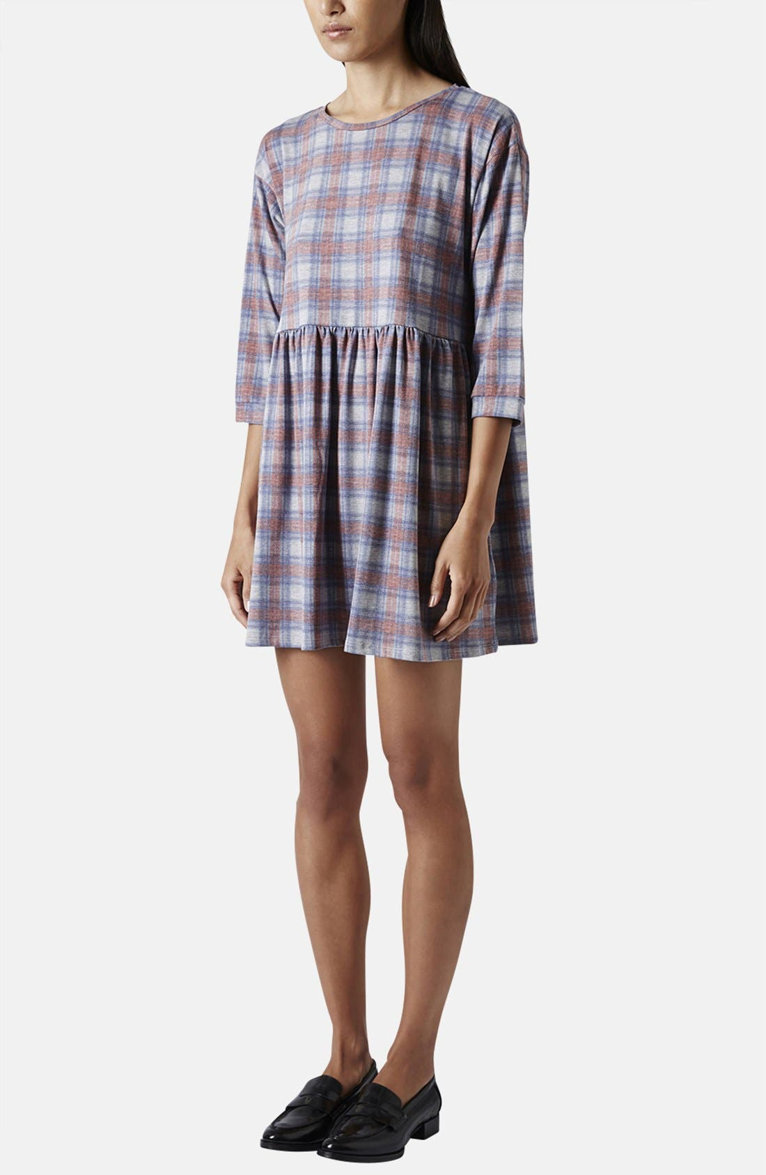 Alternate Image 5  - Topshop Check Smock Dress