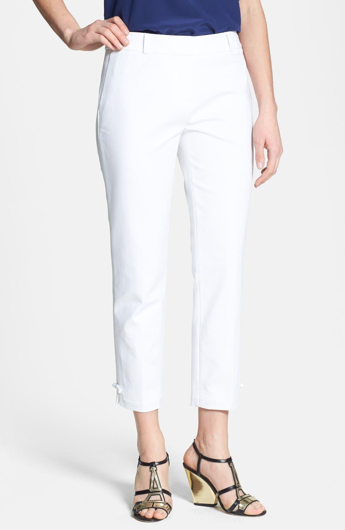 Alternate Image 1 Selected - kate spade new york 'jackie' stretch cotton capri pants