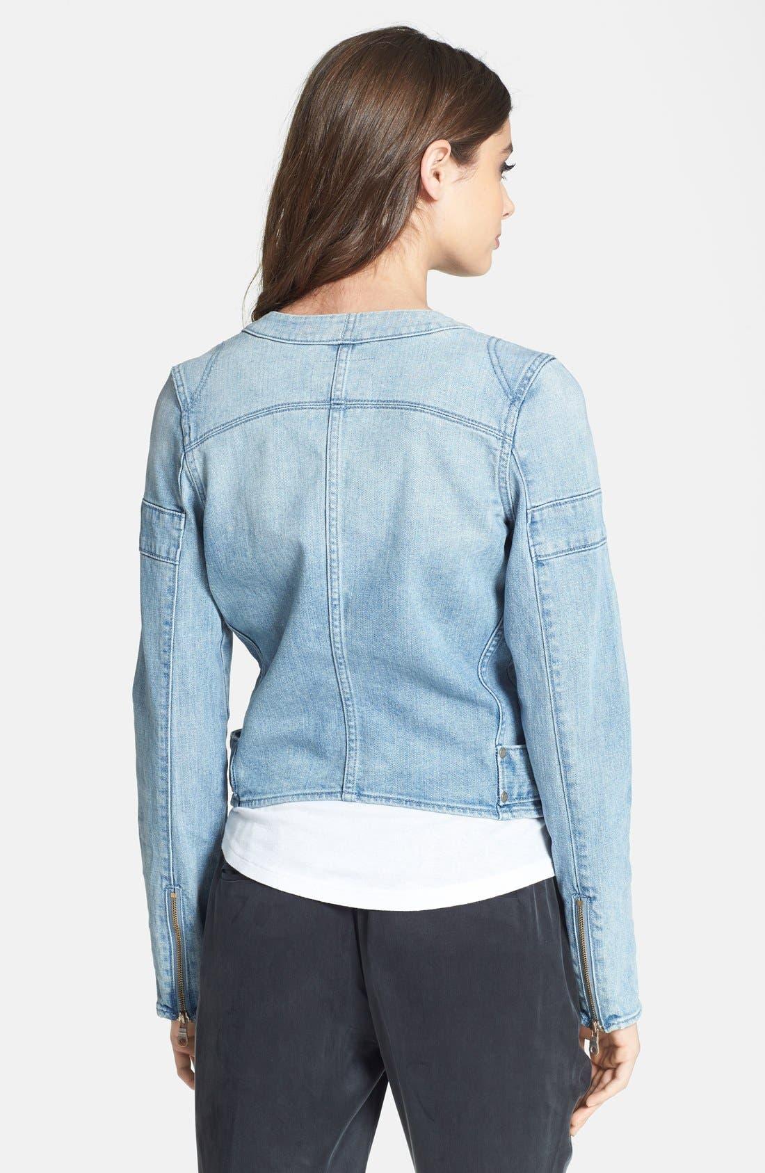 Alternate Image 2  - Paige Denim 'Fairfax' Denim Moto Jacket