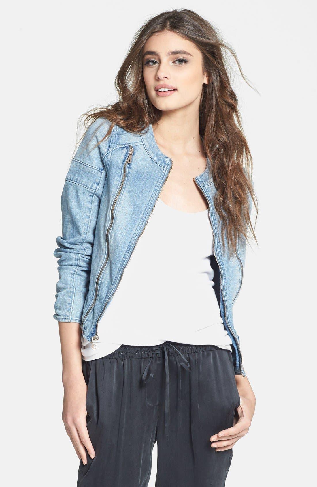 Main Image - Paige Denim 'Fairfax' Denim Moto Jacket