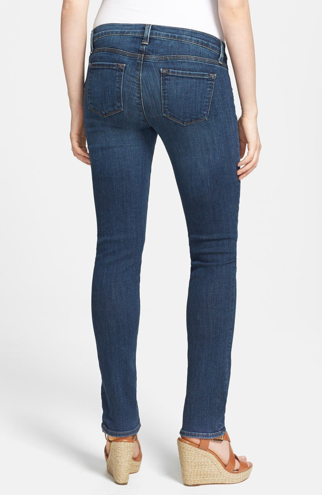 Alternate Image 2  - J Brand 'Rail' Skinny Maternity Jeans (Eminence)