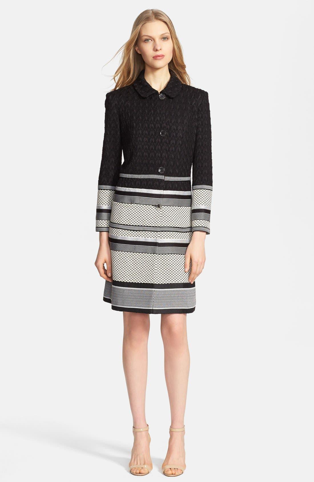 Alternate Image 1 Selected - Missoni Long Intarsia Knit Jacquard Coat