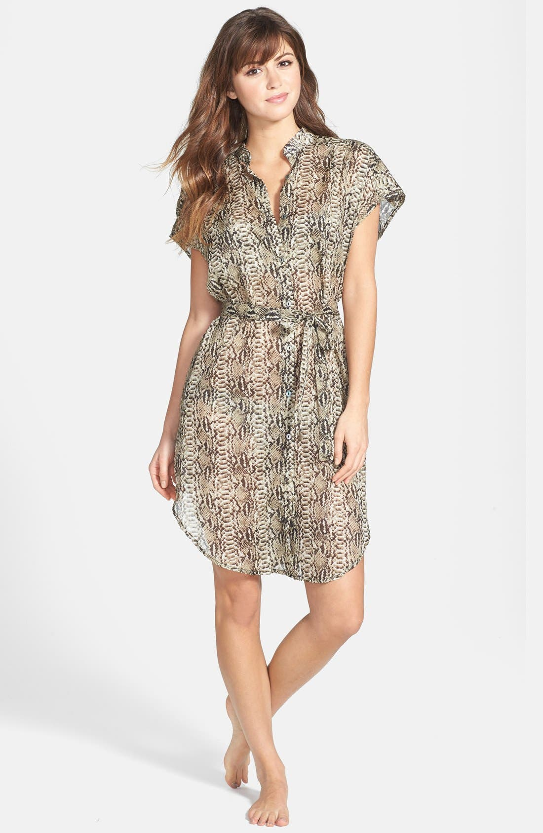 Alternate Image 1 Selected - Vitamin A® 'Nico' Voile Shirtdress