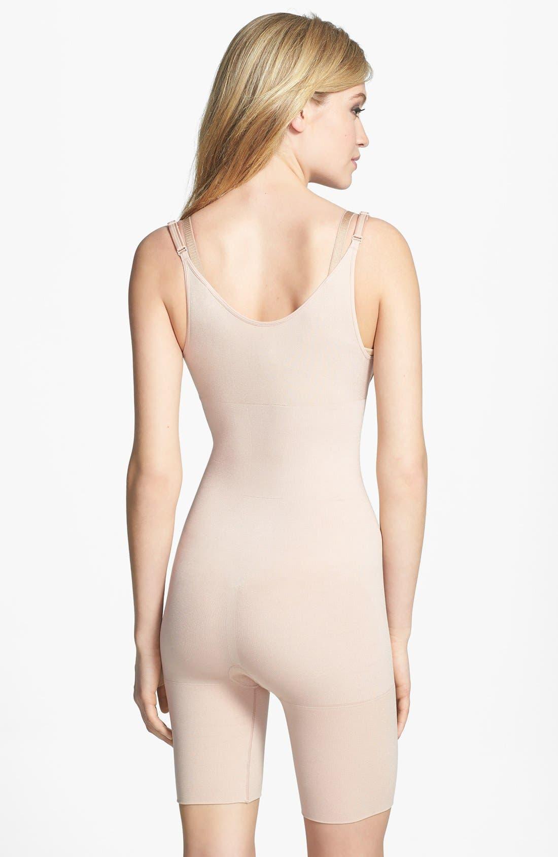 Alternate Image 2  - SPANX® 'Slimmer & Shine' Underbust Mid Thigh Shaper Bodysuit