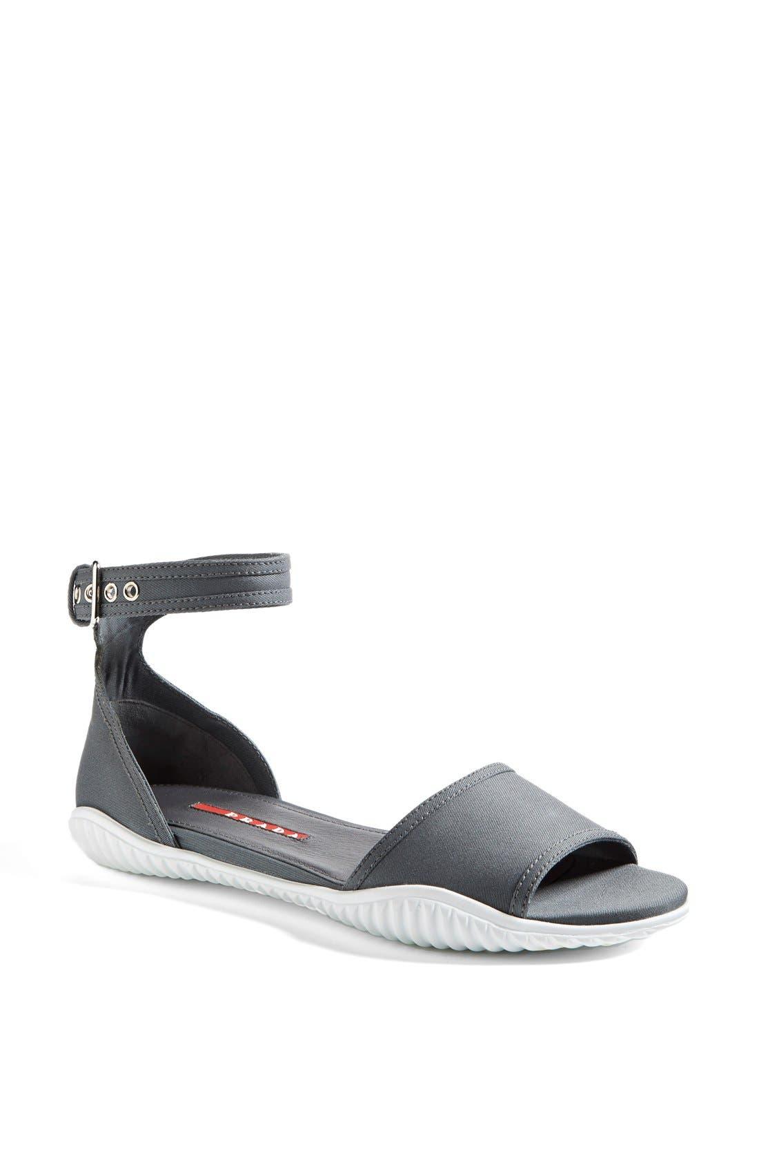 Alternate Image 1 Selected - Prada Ankle Strap Sport Sandal