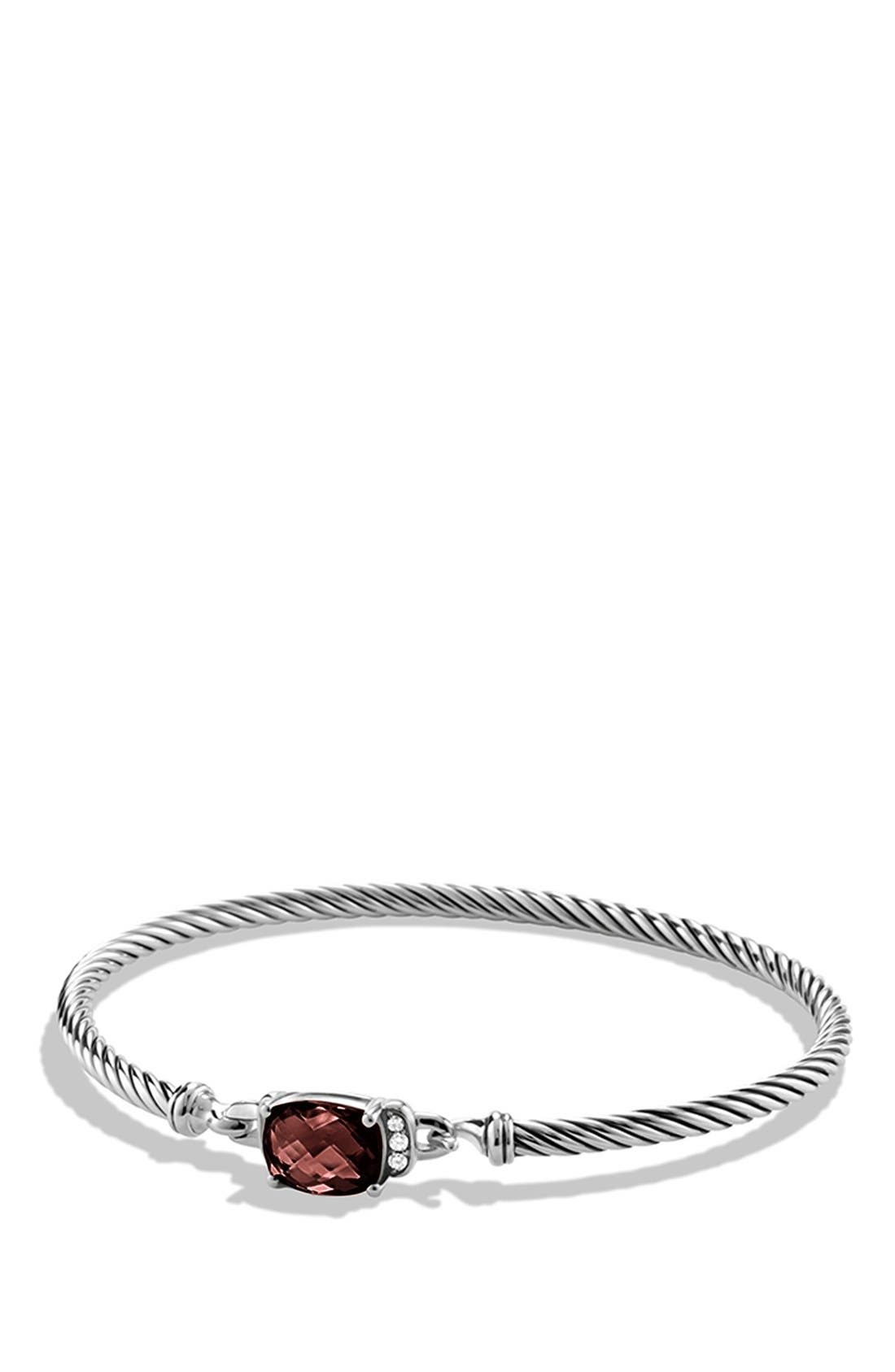 David Yurman 'Petite Wheaton' Bracelet with Semiprecious Stone & Diamonds