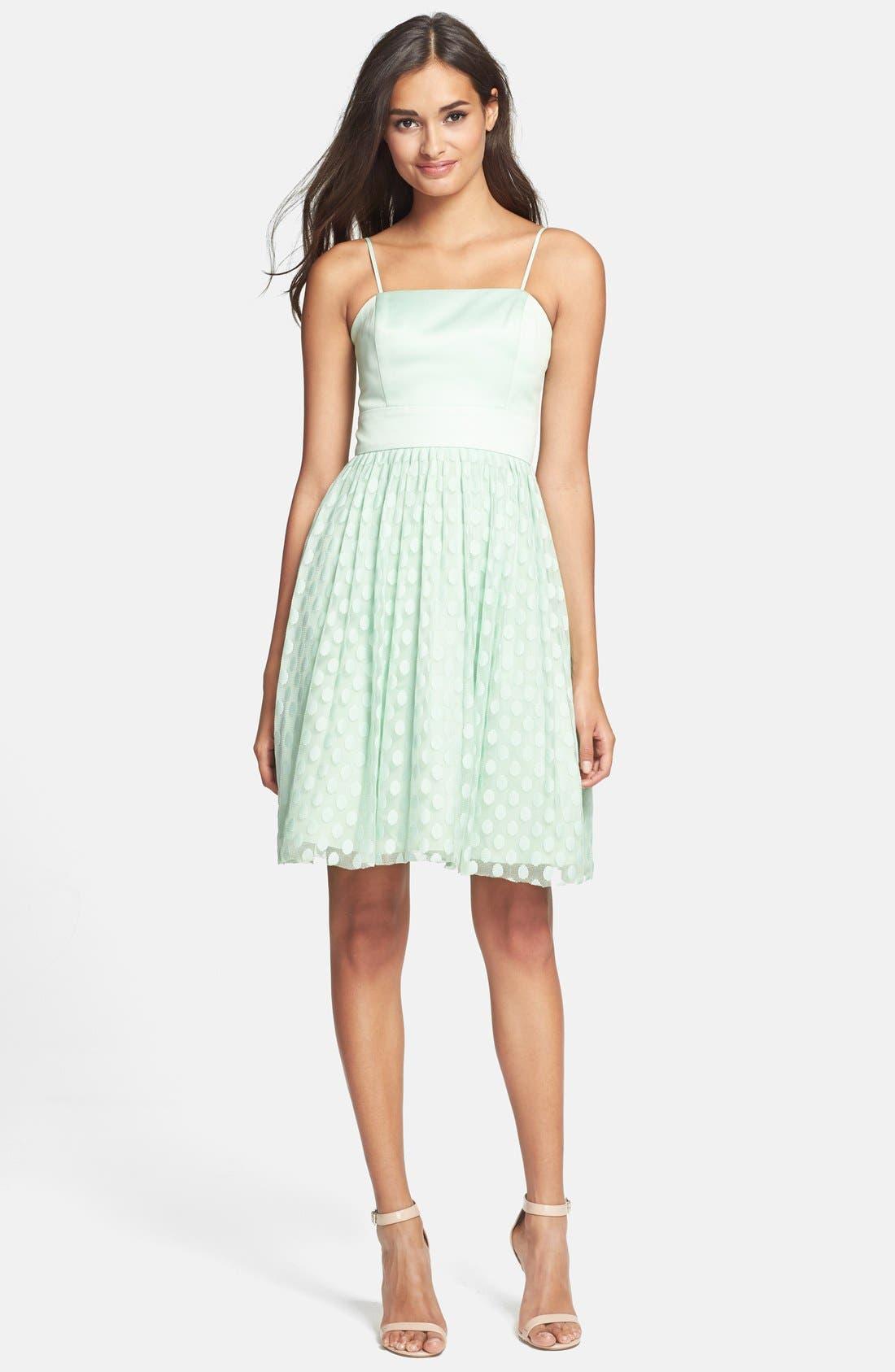 Alternate Image 3  - Eliza J Polka Dot Mesh Fit & Flare Dress