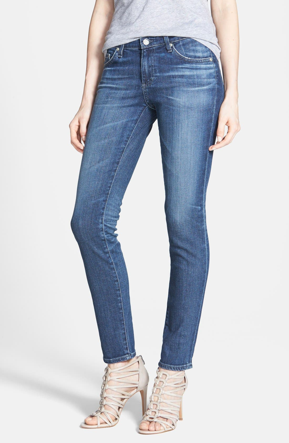 Main Image - AG 'Stilt' Cigarette Leg Jeans (Nine Years Evolved)