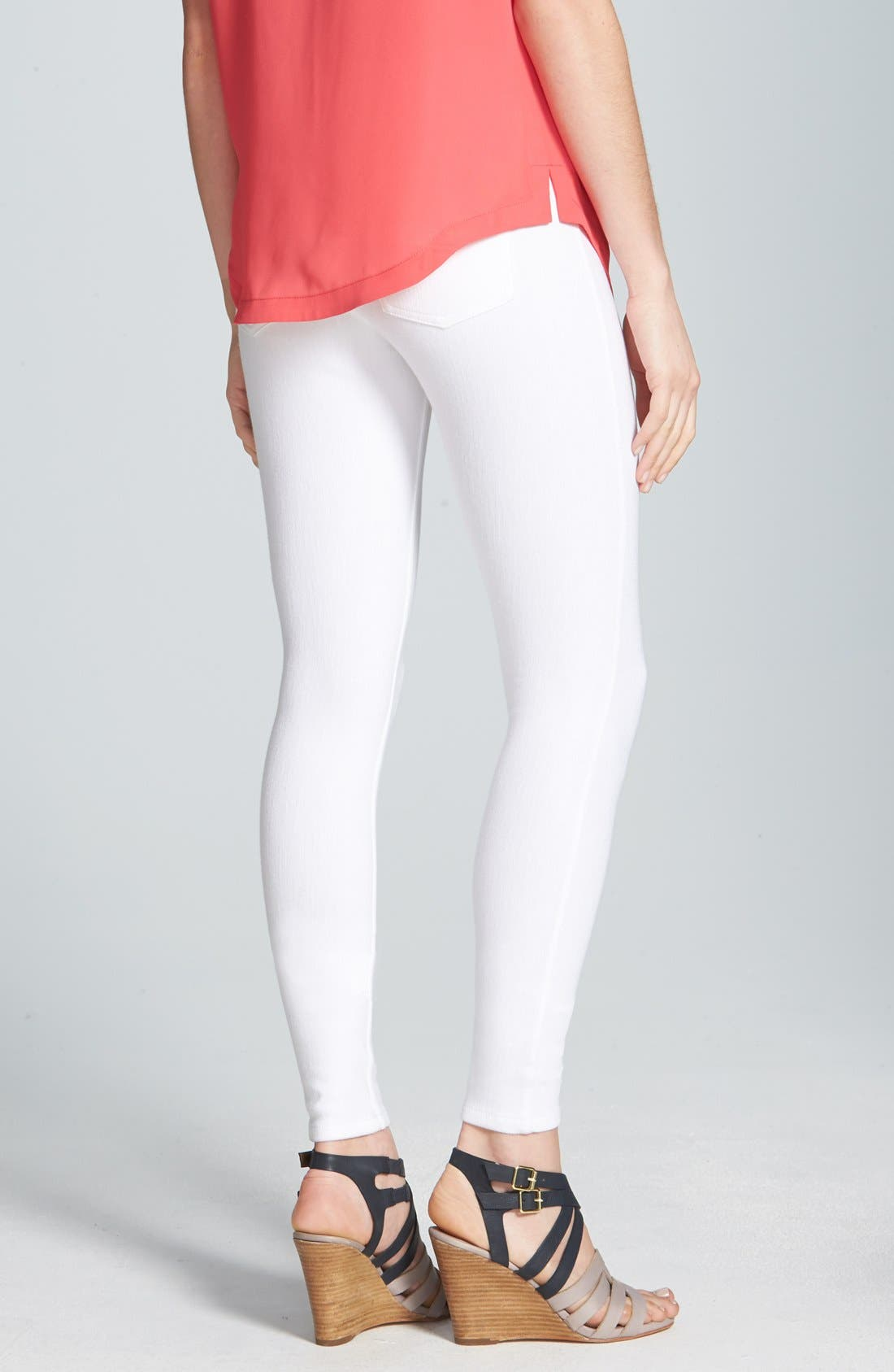 Alternate Image 2  - Hue Denim Leggings