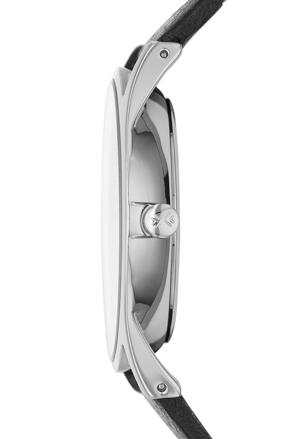 Alternate Image 3  - Skagen 'Holst' Multifunction Leather Strap Watch, 40mm
