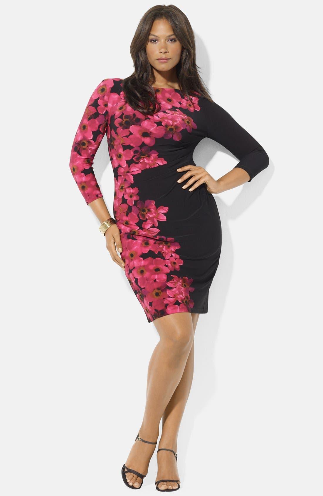 Main Image - Lauren Ralph Lauren Jersey Dress (Plus Size)