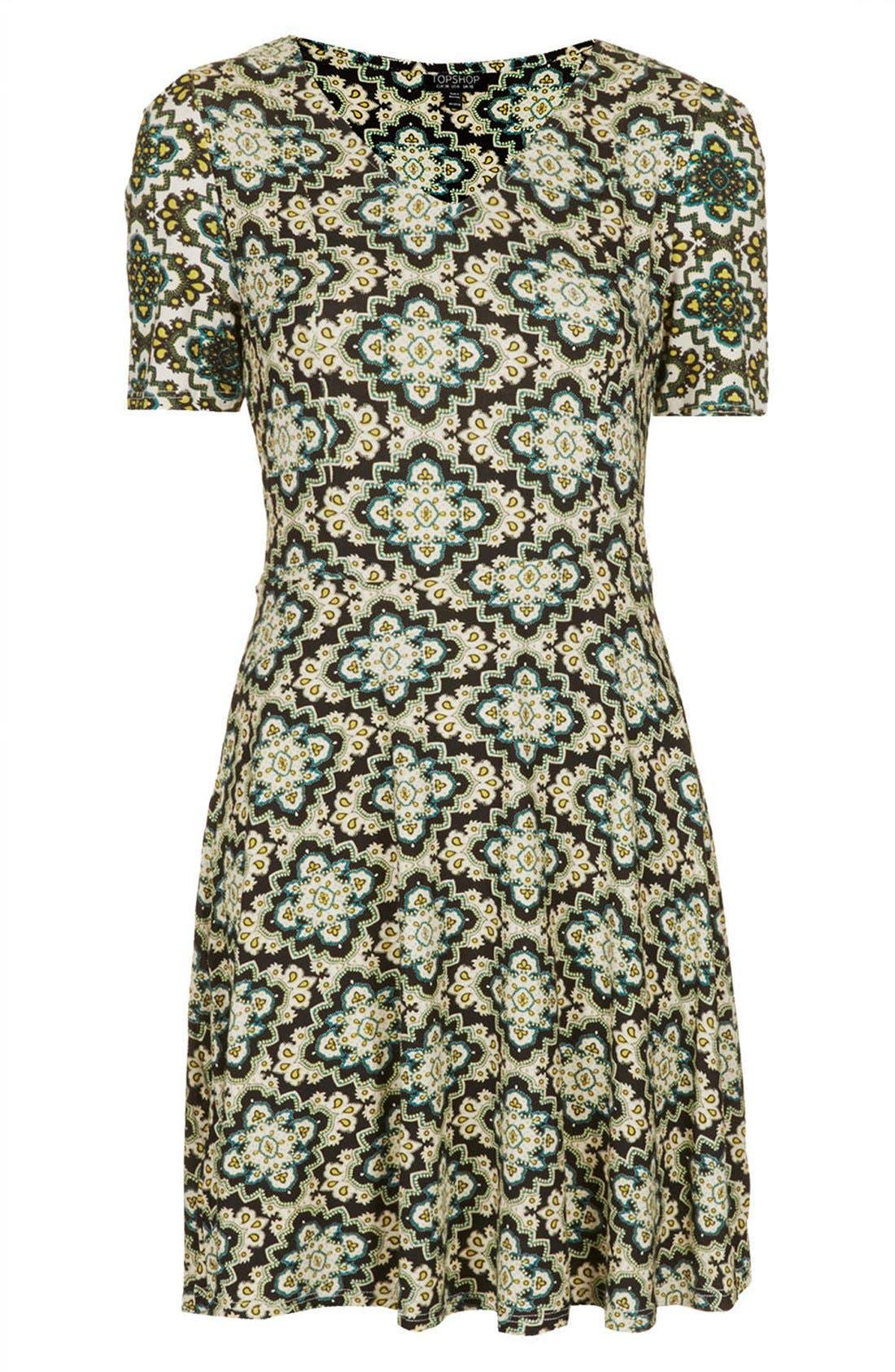 Alternate Image 3  - Topshop 'Emma' Folk Print Jersey Dress