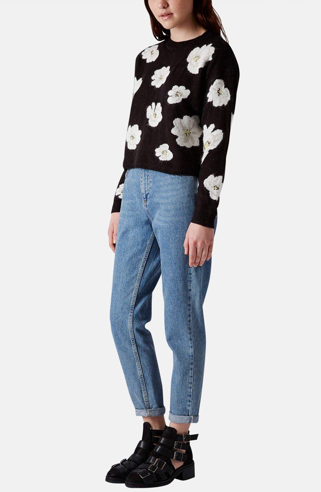 Alternate Image 5  - Topshop Daisy Jacquard Sweater