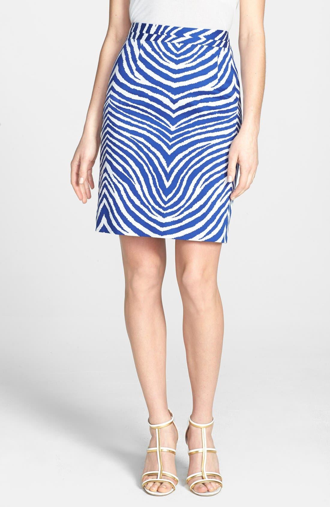 Main Image - Milly Print Pencil Skirt