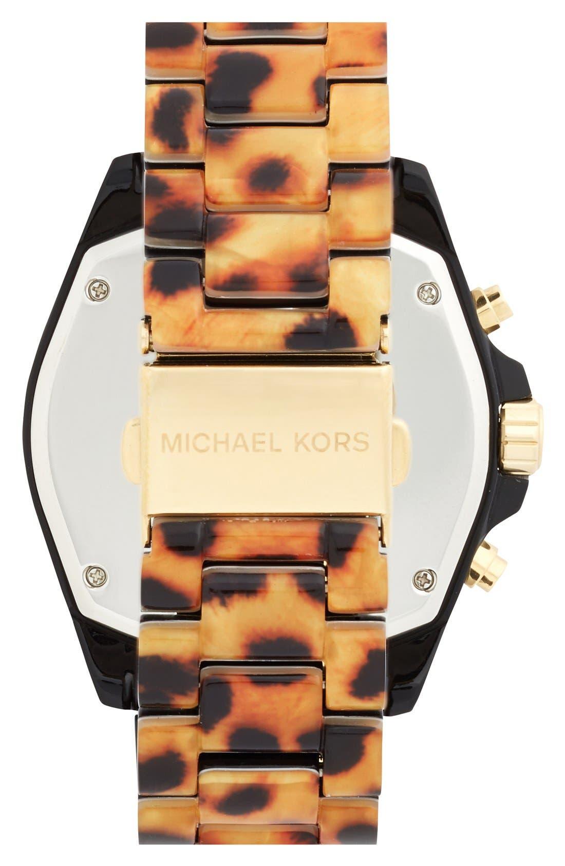 Alternate Image 2  - Michael Kors 'Bradshaw' Chronograph Resin Bracelet Watch, 43mm