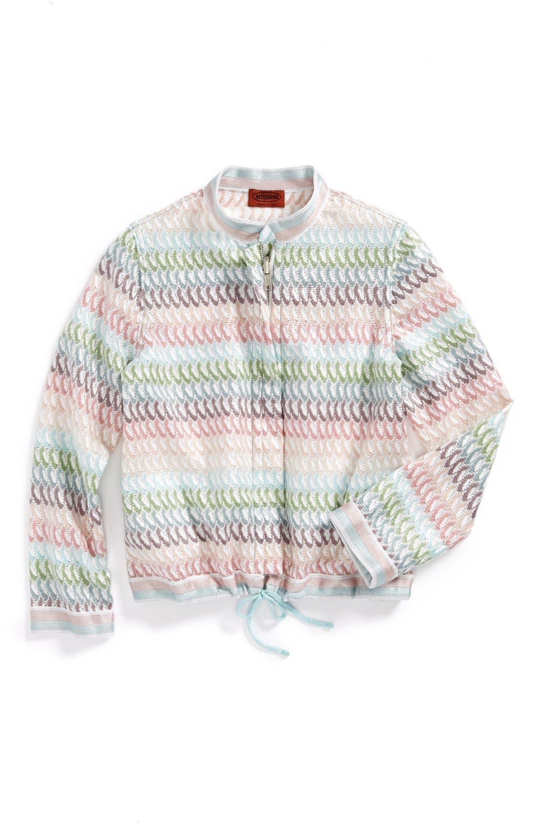 Alternate Image 1 Selected - Missoni Striped Petal Jacket (Toddler Girls, Little Girls & Big Girls)