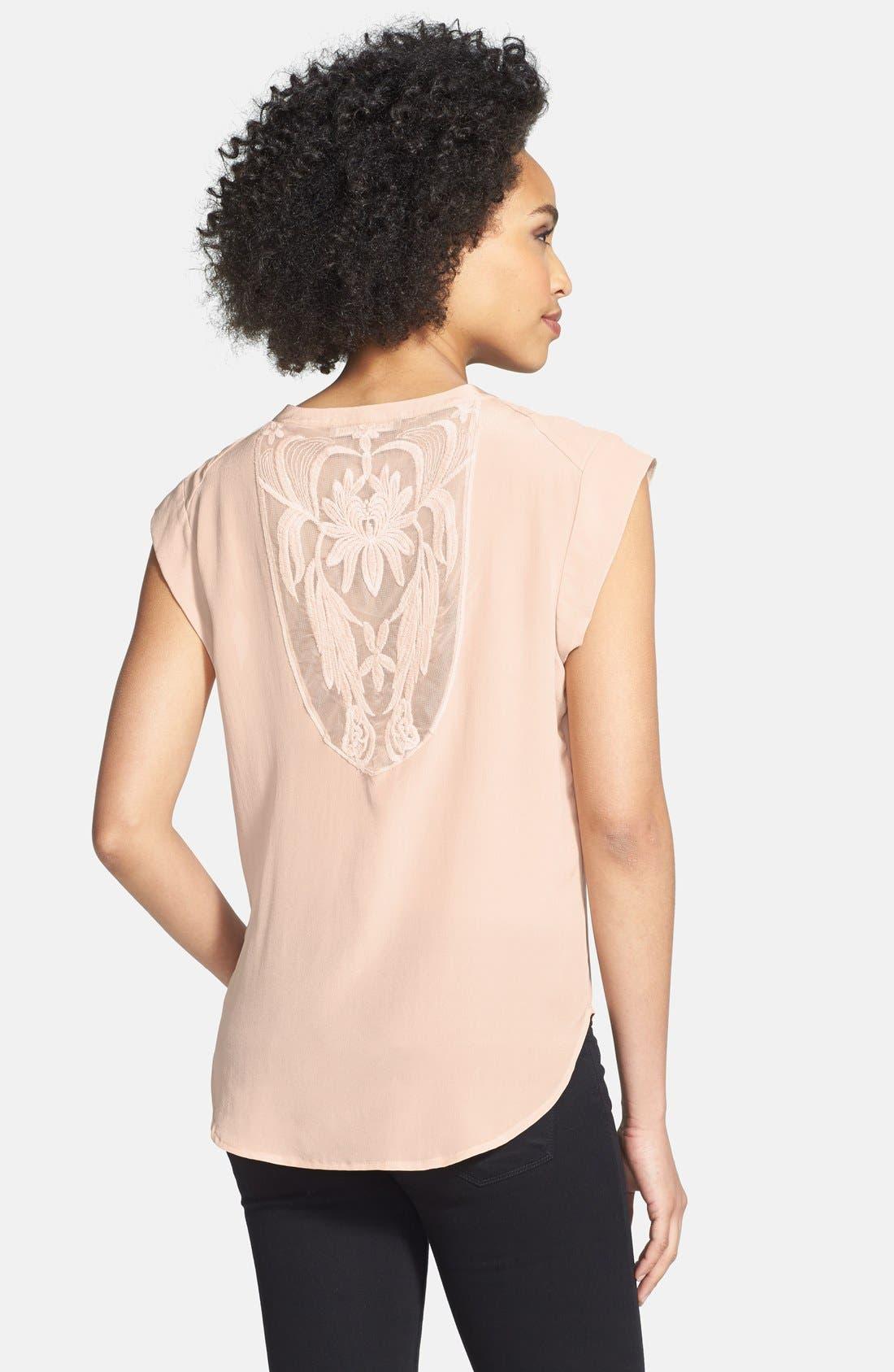 Alternate Image 2  - Daniel Rainn Lace Insert Silk Blouse