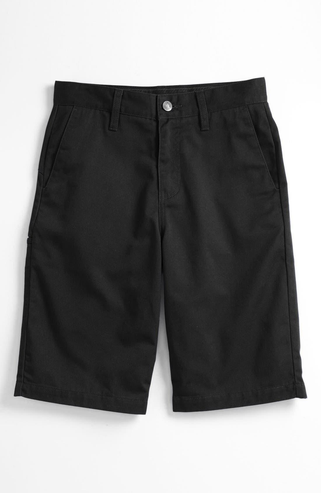 Alternate Image 3  - Volcom 'Friendly' Chino Shorts (Big Boys)