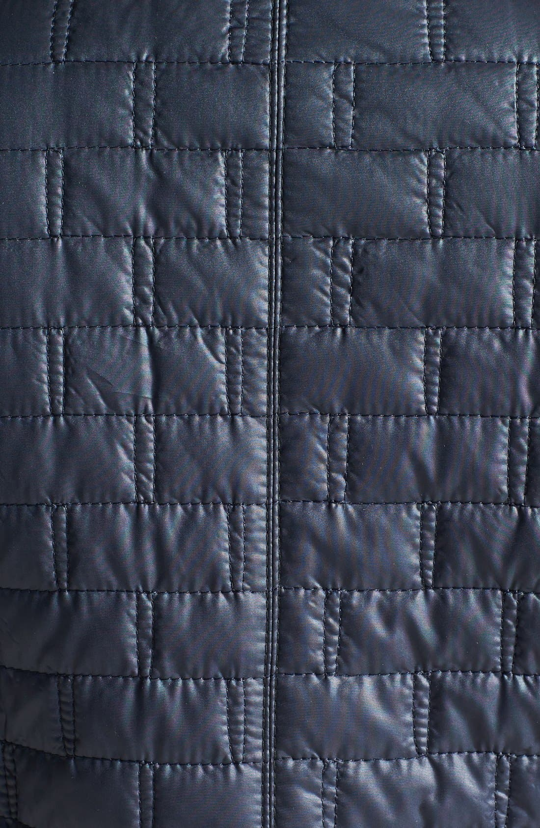 Alternate Image 3  - Laundry by Shelli Segal Belted Quilted Trench Coat