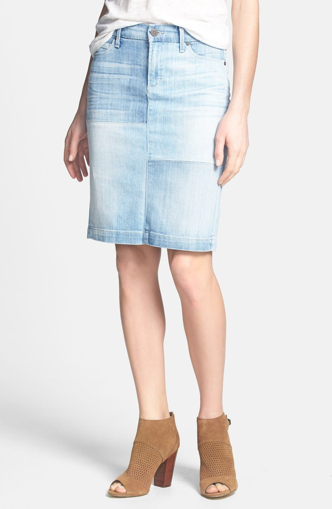Alternate Image 1 Selected - Citizens of Humanity 'Premium Vintage' Denim Pencil Skirt