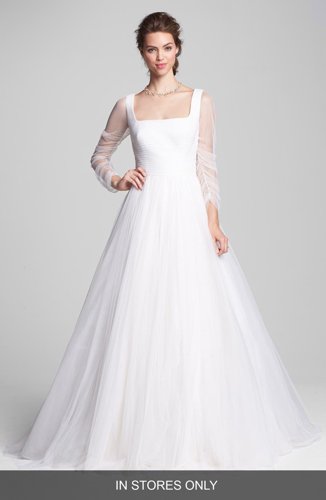 Alternate Image 1 Selected - Rosa Clara 'Belinda' Full Skirt Chiffon Dress (In Stores Only)