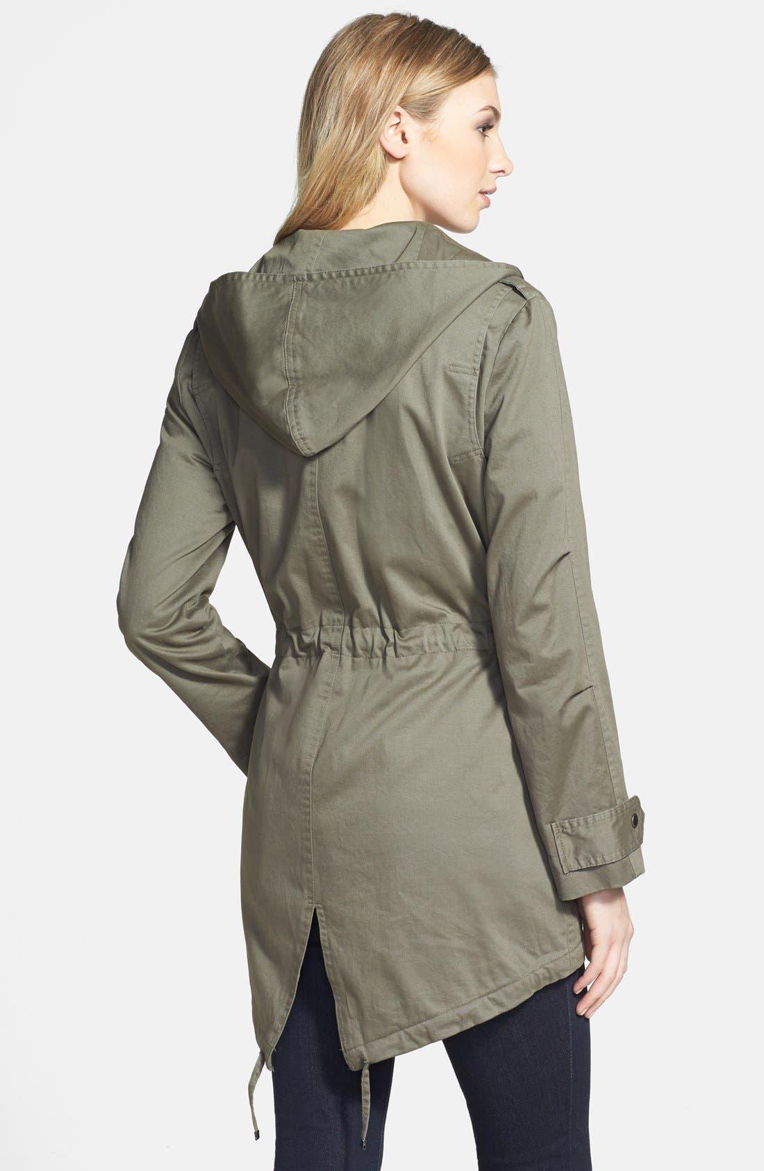 Alternate Image 2  - Nicole Benisti Hooded Stretch Cotton Anorak