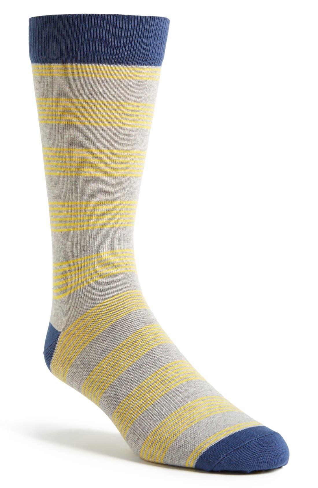 Alternate Image 1 Selected - PACT 'Picnic Stripe' Crew Socks