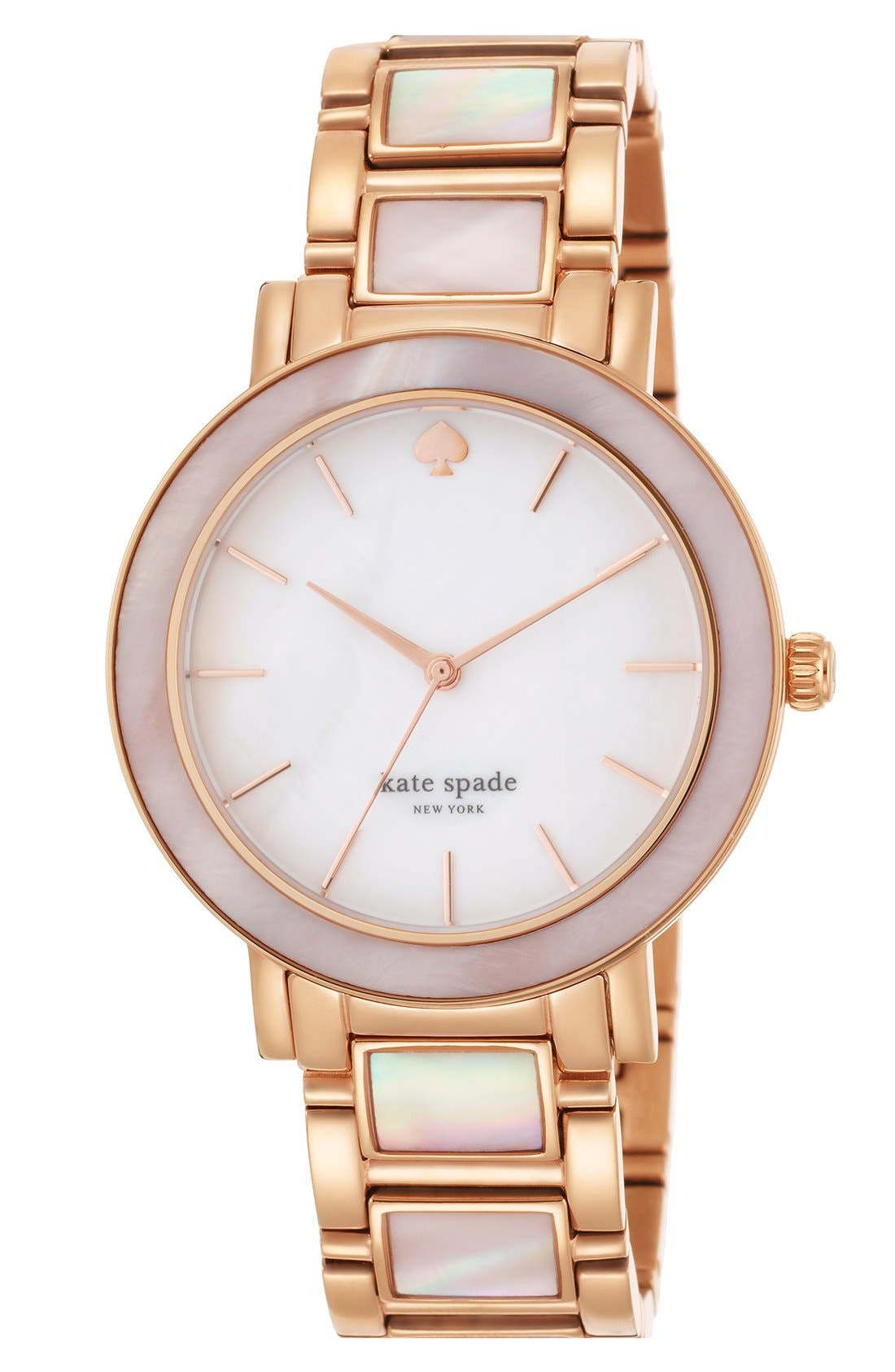 Alternate Image 3  - kate spade new york 'gramercy grand' mother-of-pearl bracelet watch, 38mm