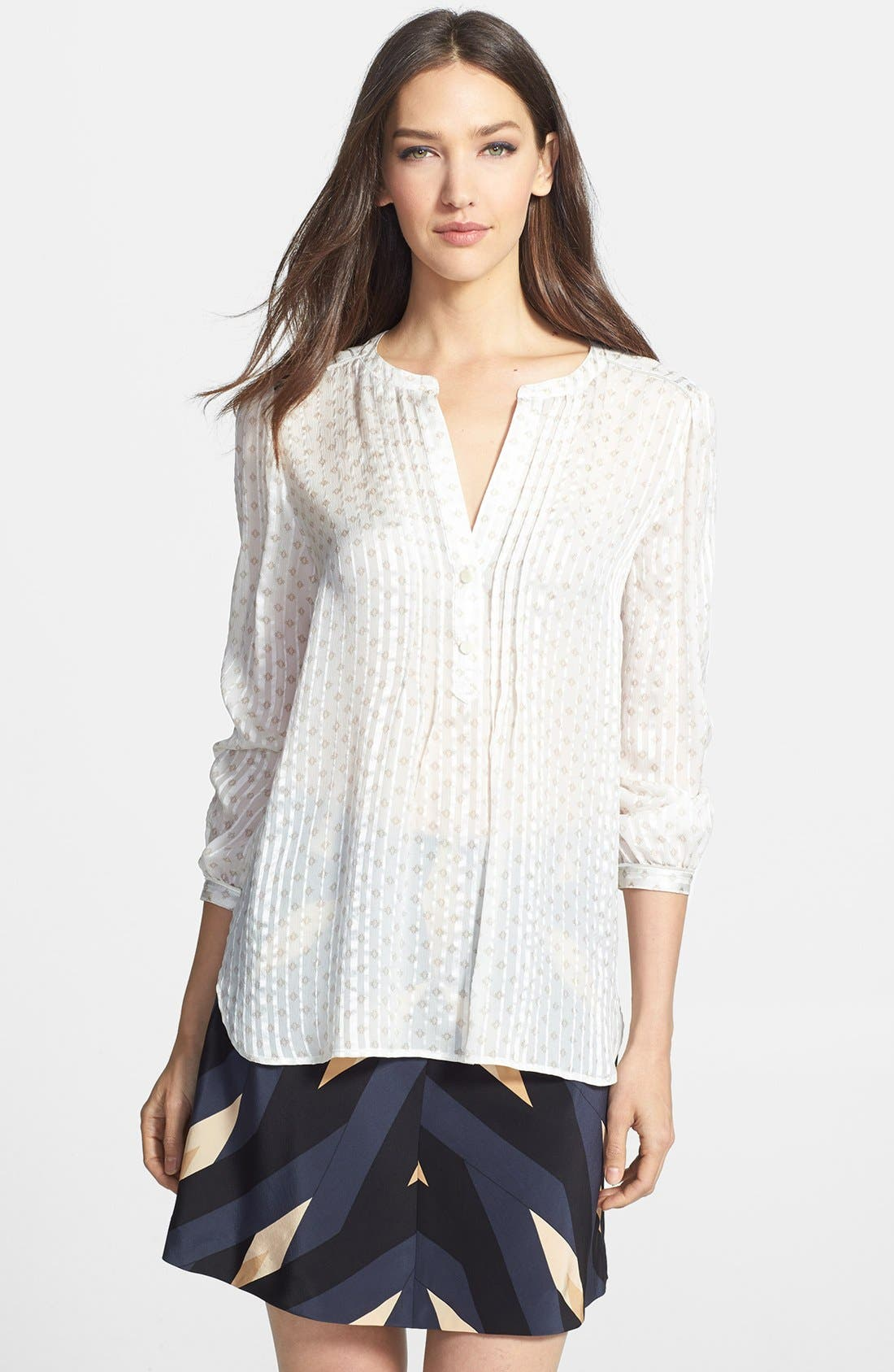 Alternate Image 1 Selected - MARC BY MARC JACOBS 'Mini Diamond' Crinkle Silk Top