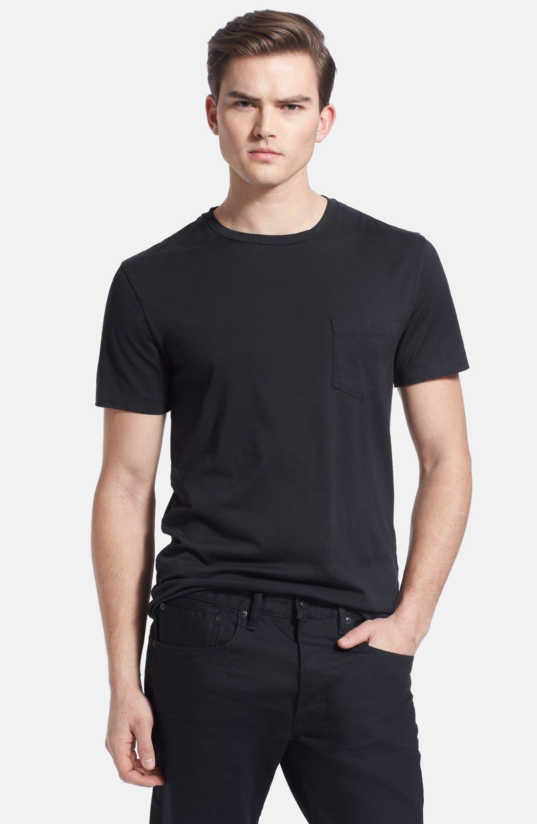 Alternate Image 1 Selected - Ralph Lauren Black Label Pima Cotton Pocket Crewneck T-Shirt