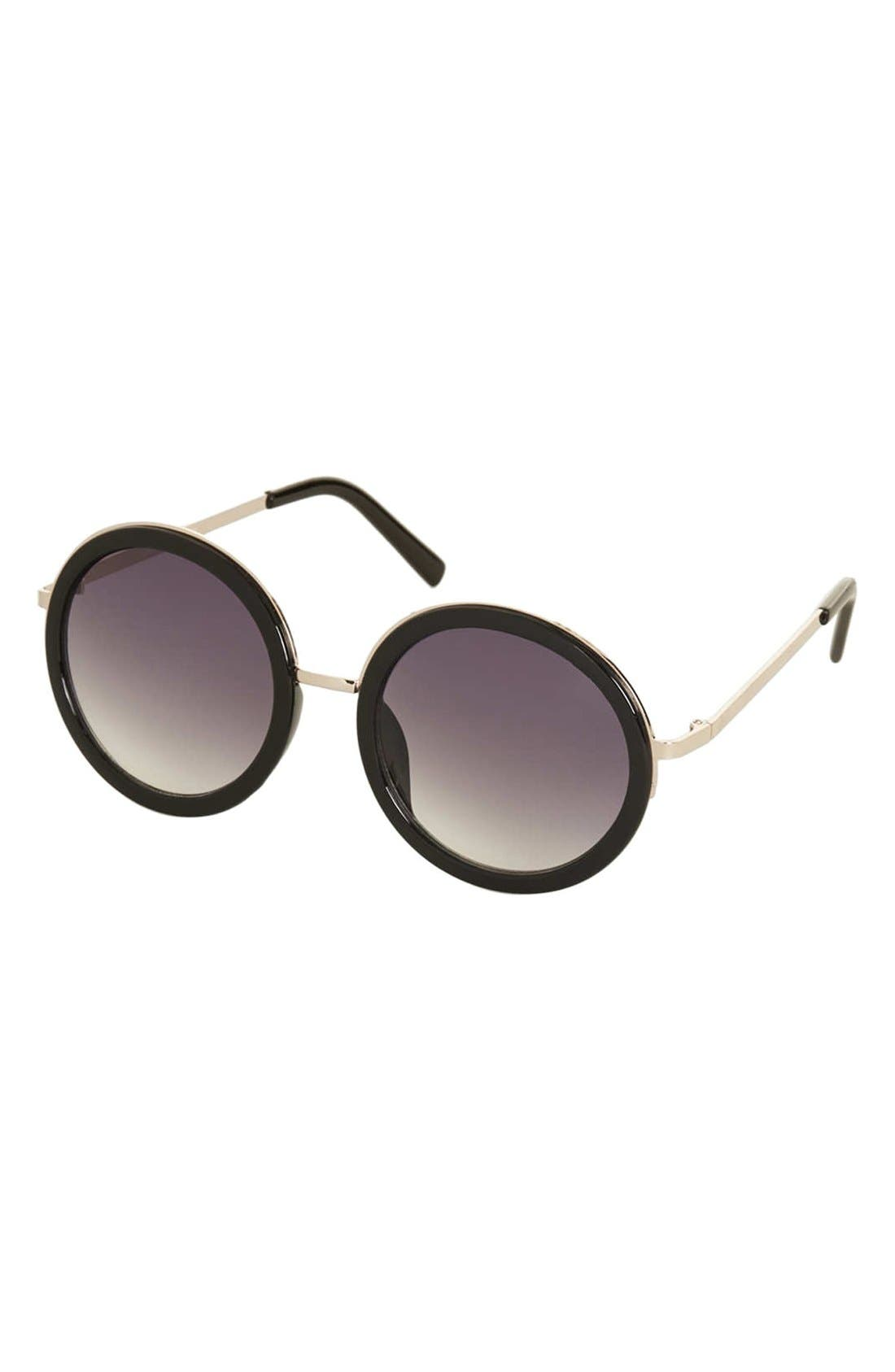 Alternate Image 1 Selected - Topshop 'Lolita' 50mm Round Sunglasses