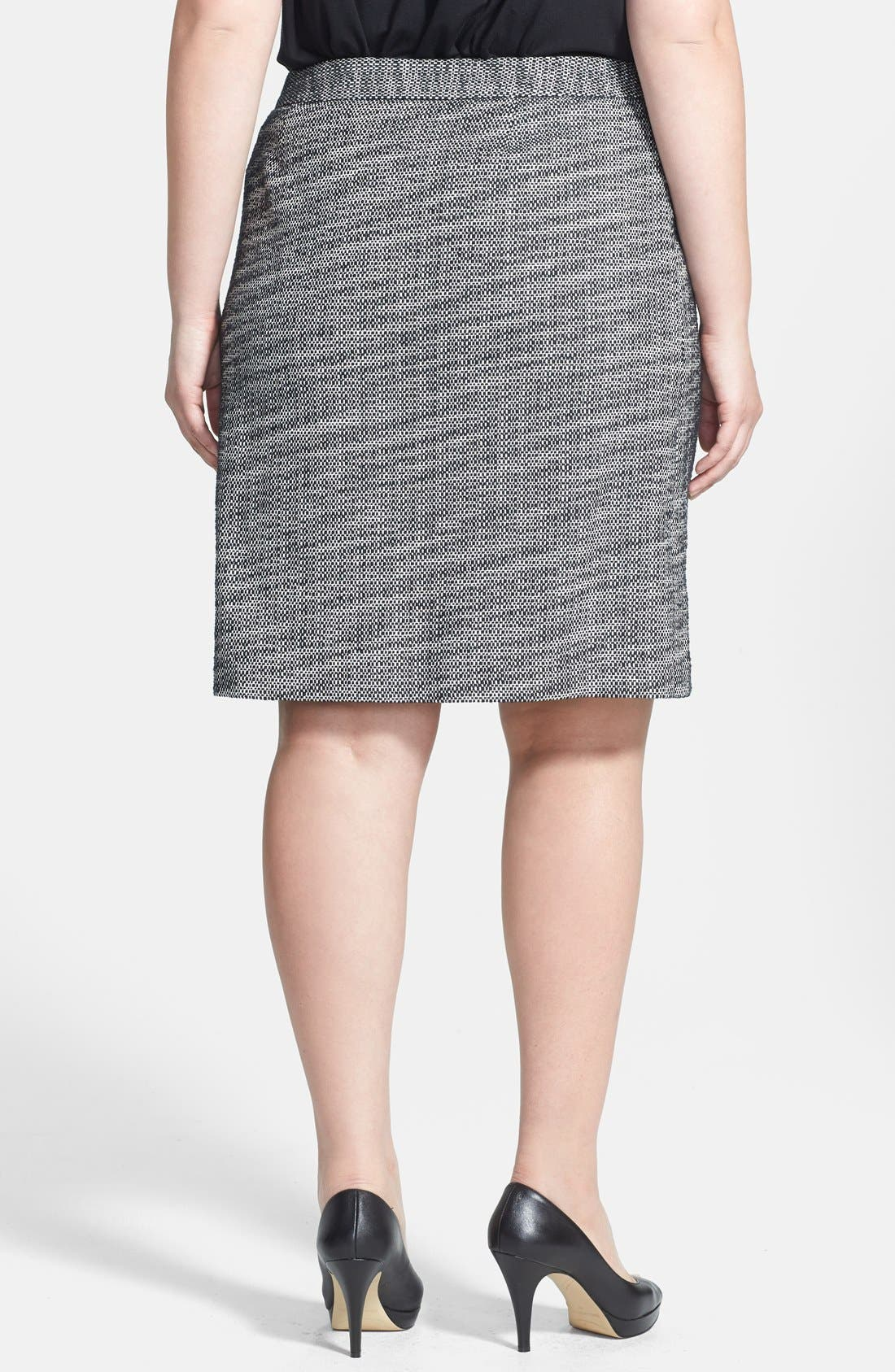 Alternate Image 2  - Anne Klein Graphic Tweed A-Line Skirt (Plus Size)