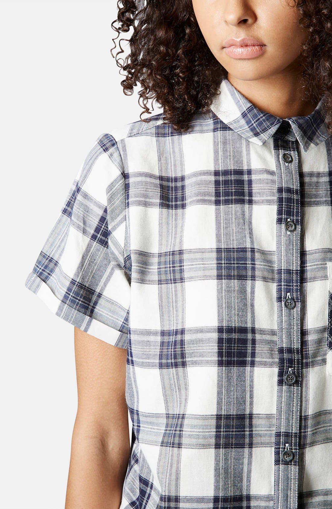 Alternate Image 4  - Topshop 'Emily' Check Print Cotton Shirt