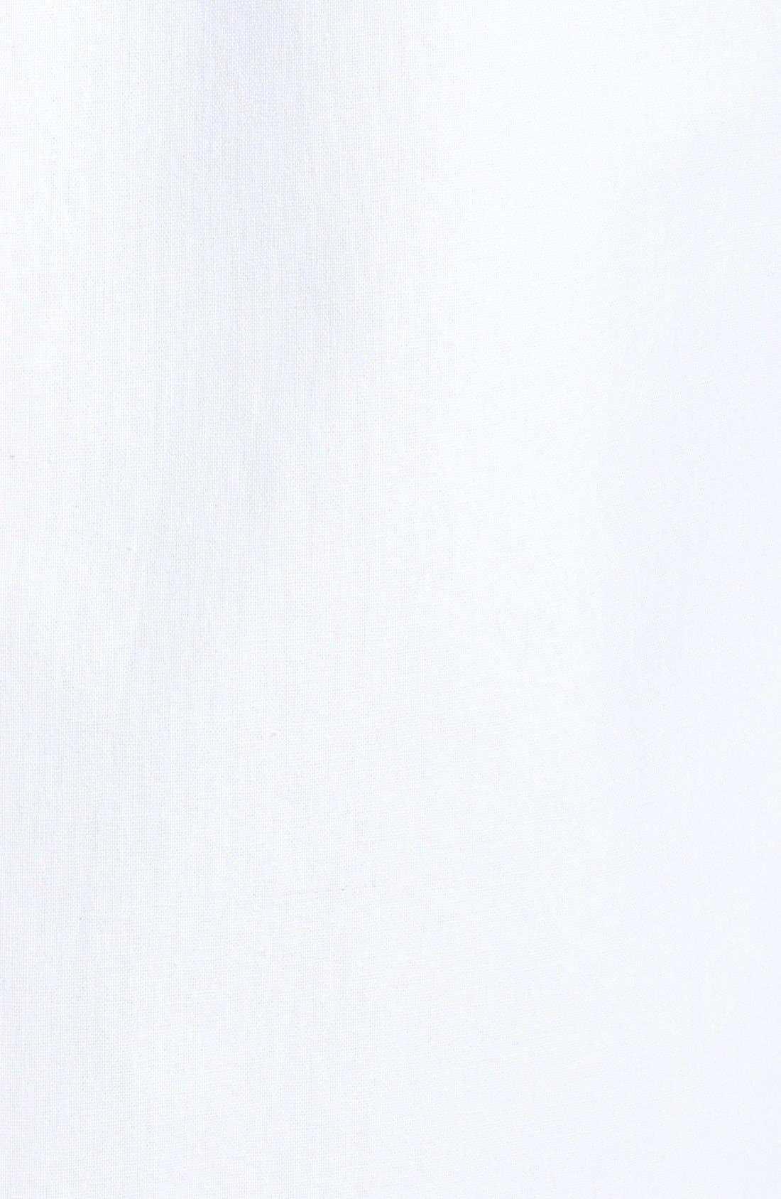 Alternate Image 3  - Soia & Kyo Leather Trim Collarless Linen & Cotton Jacket