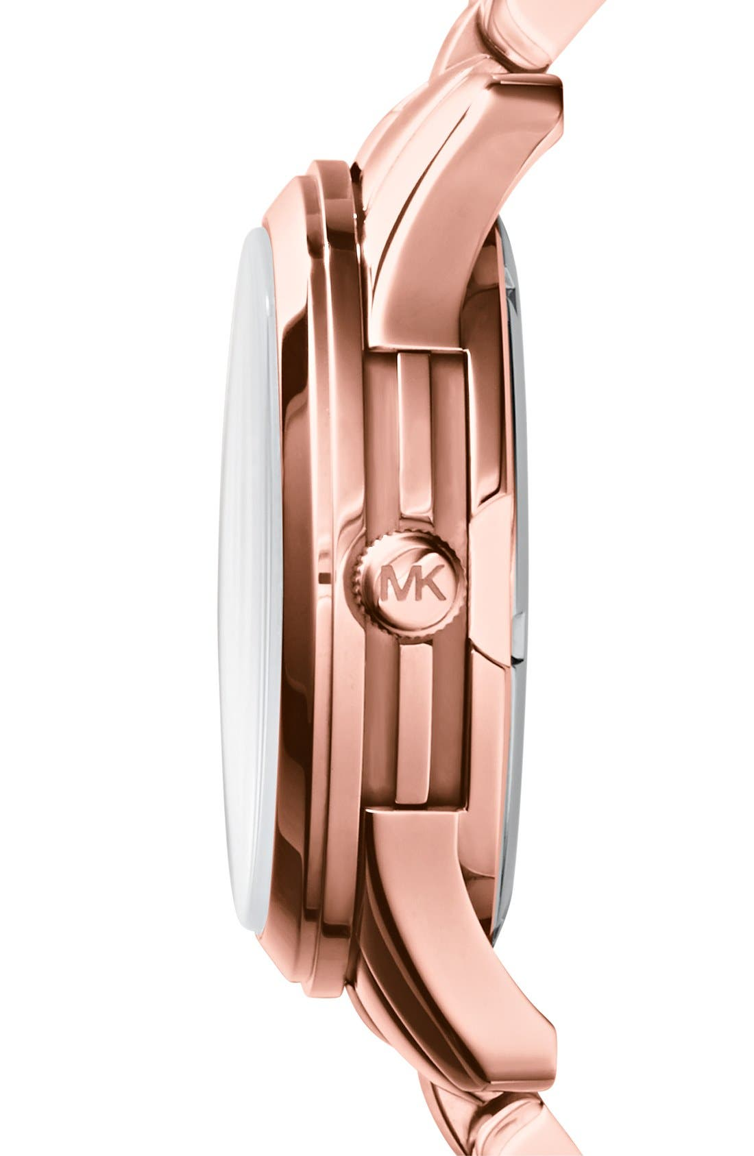 Alternate Image 3  - Michael Kors 'Runway' Round Bracelet Watch, 38mm