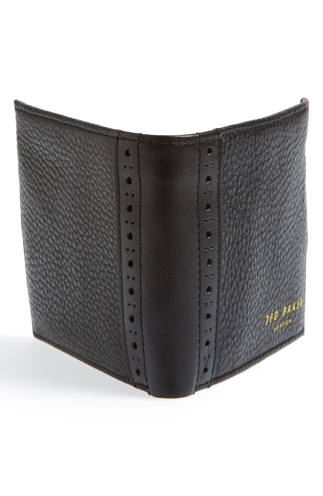 Alternate Image 3  - Ted Baker London 'Brogue' Leather Bifold Wallet