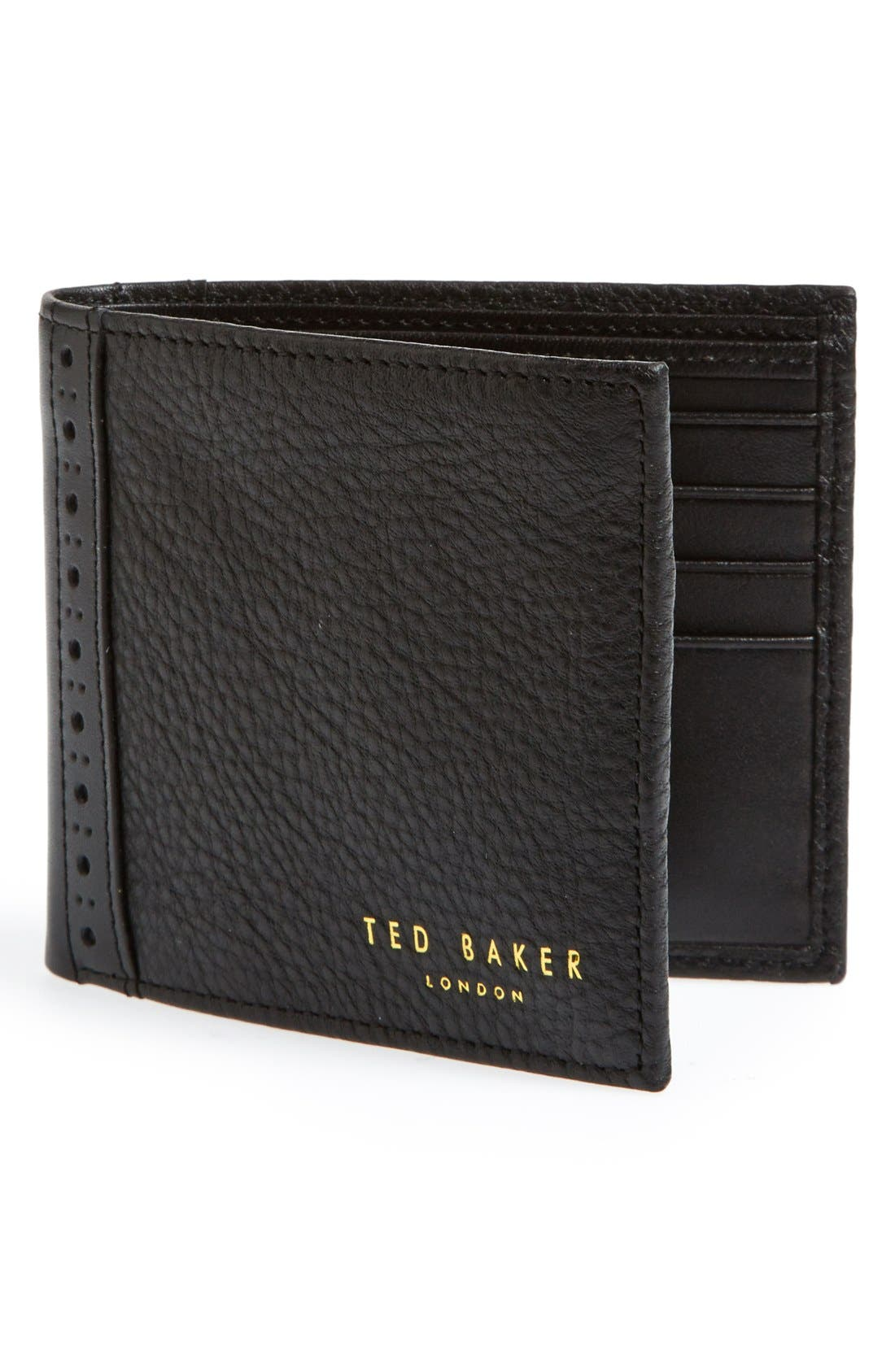 Alternate Image 1 Selected - Ted Baker London 'Brogue' Leather Bifold Wallet