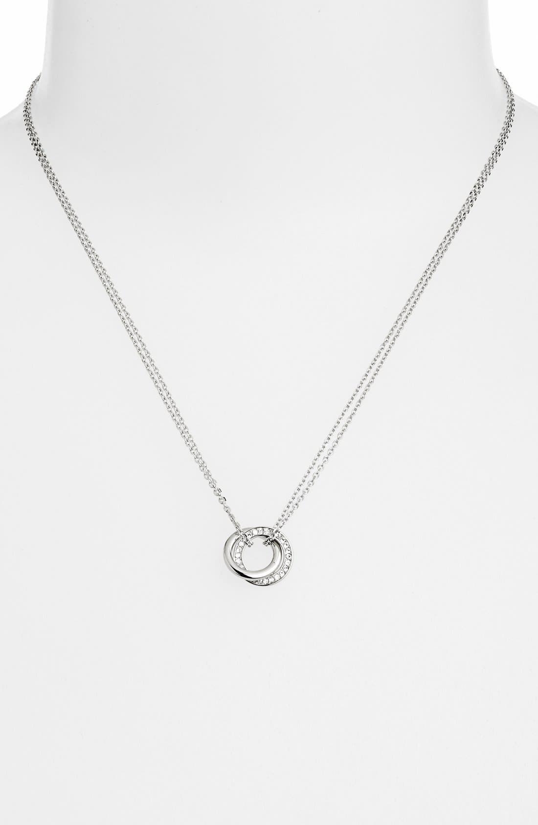 Alternate Image 1 Selected - Michael Kors 'Statement Brilliance' Double Ring Necklace