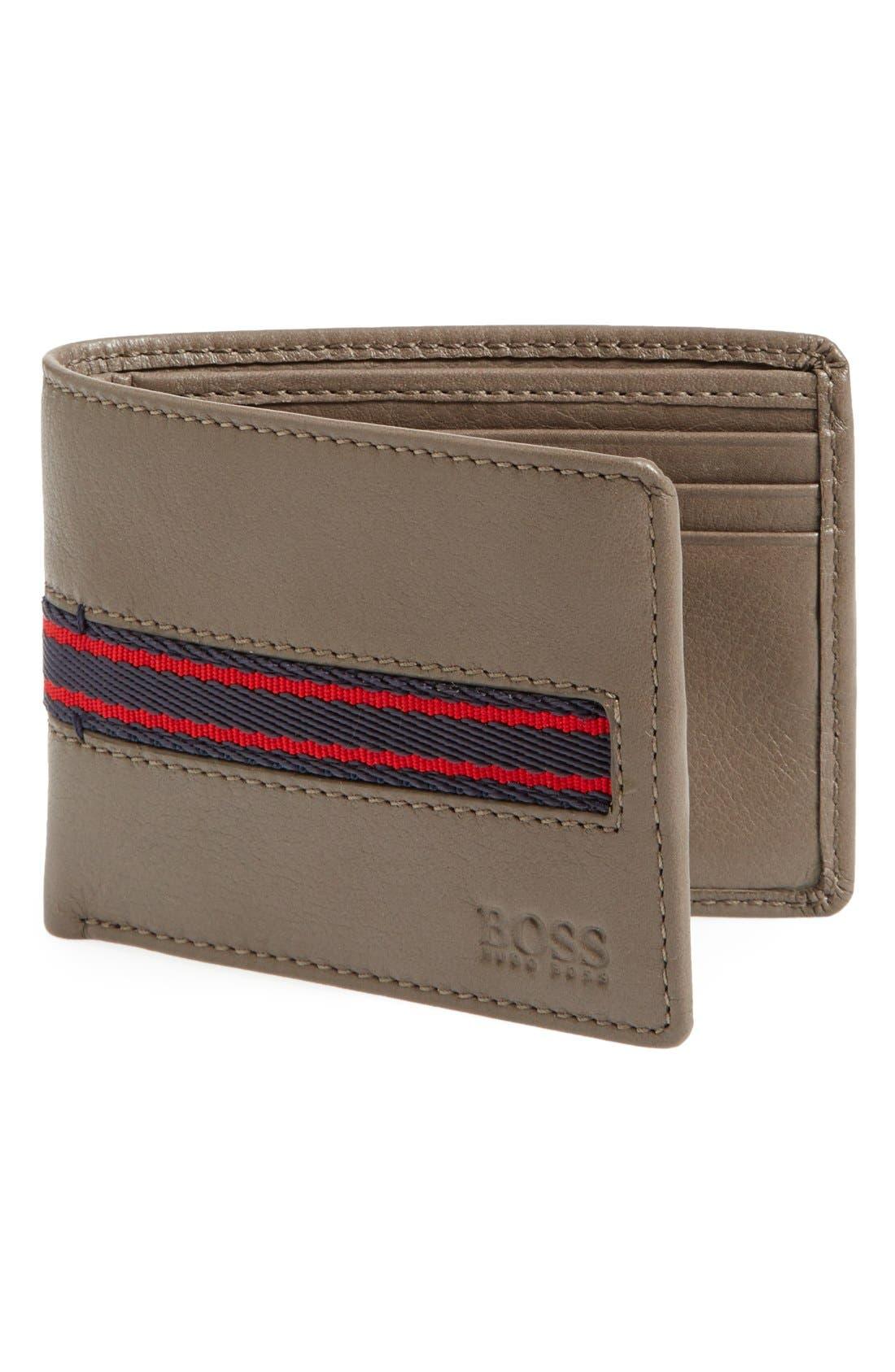Alternate Image 1 Selected - BOSS HUGO BOSS 'Sadonte' Leather Wallet