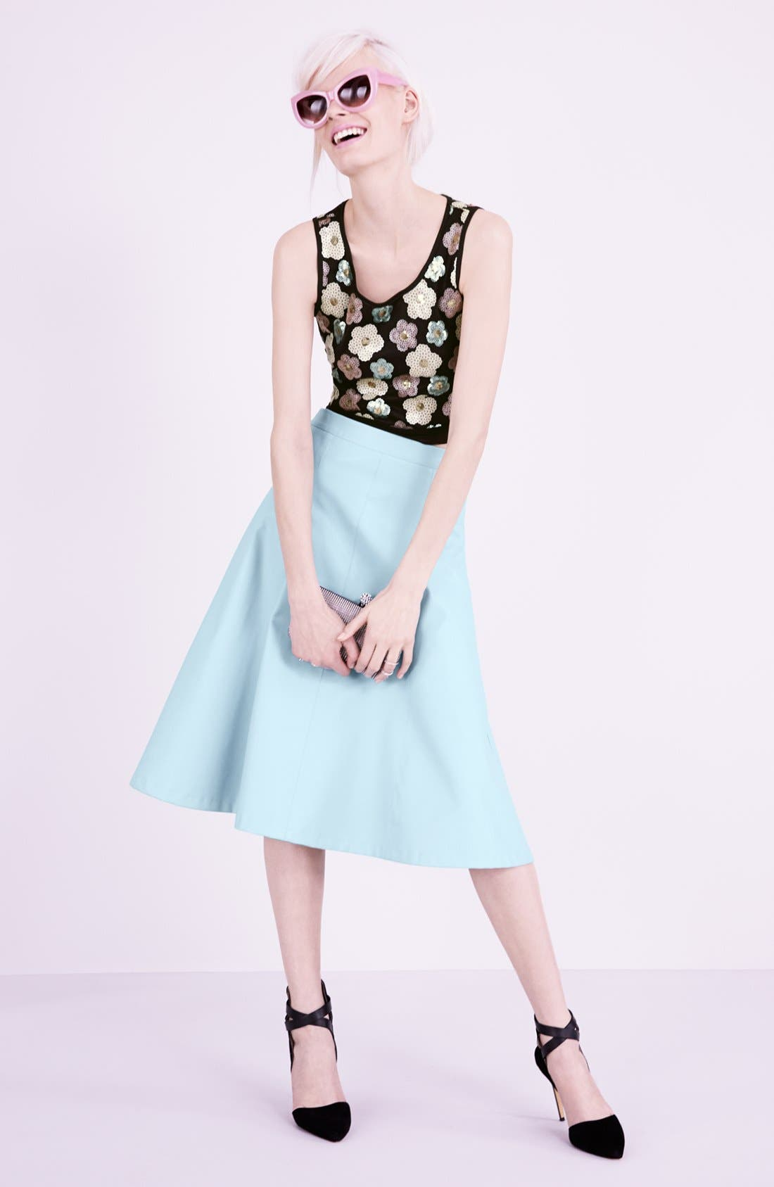 Alternate Image 5  - ASTR Faux Leather A-Line Midi Skirt