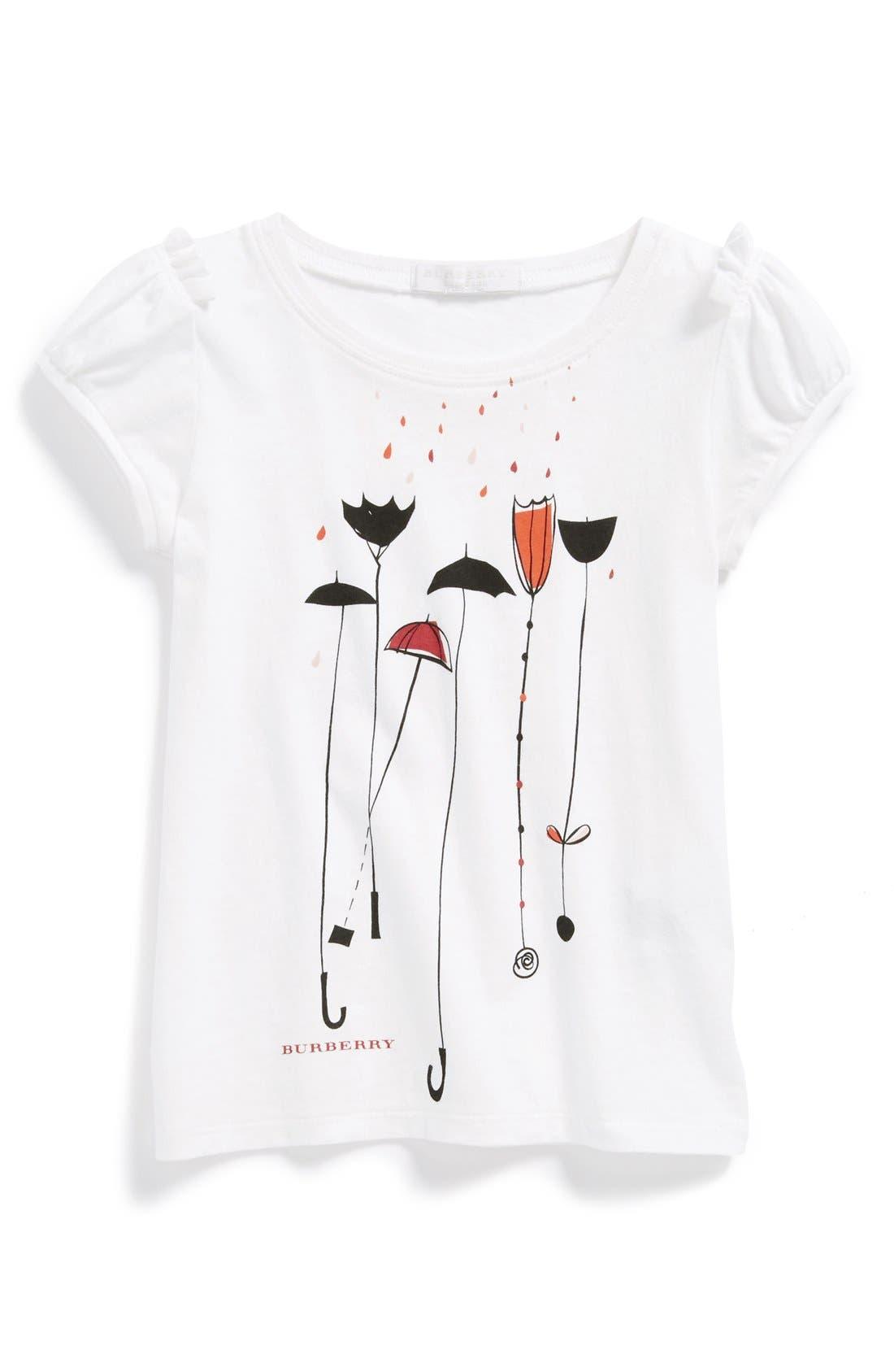 Alternate Image 1 Selected - Burberry Graphic Tee (Little Girls & Big Girls)