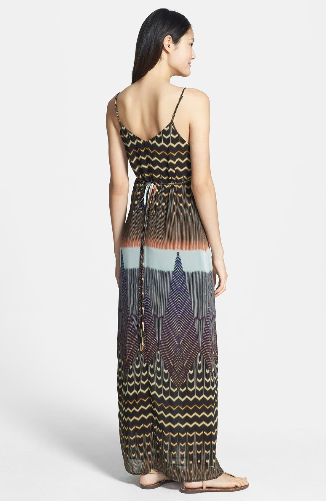Alternate Image 2  - Charlie Jade 'Madison' Silk Maxi Dress