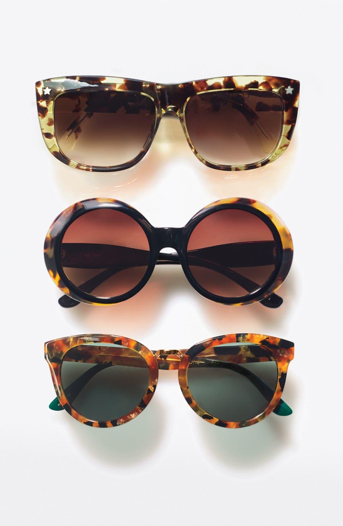 Alternate Image 3  - kensie 'Neve' 50mm Oversized Sunglasses
