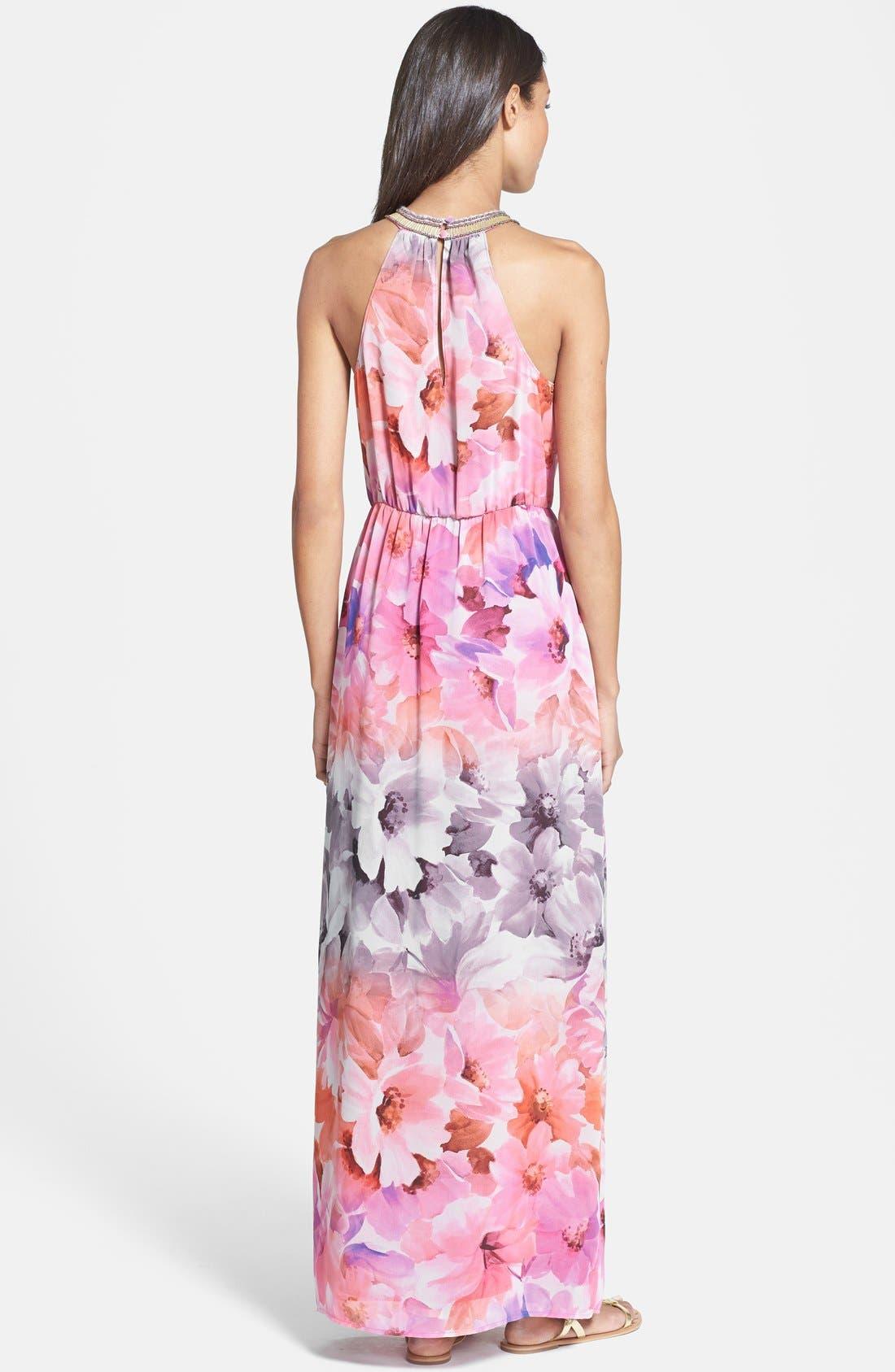 Alternate Image 2  - Charlie Jade 'Ava' Print Maxi Dress