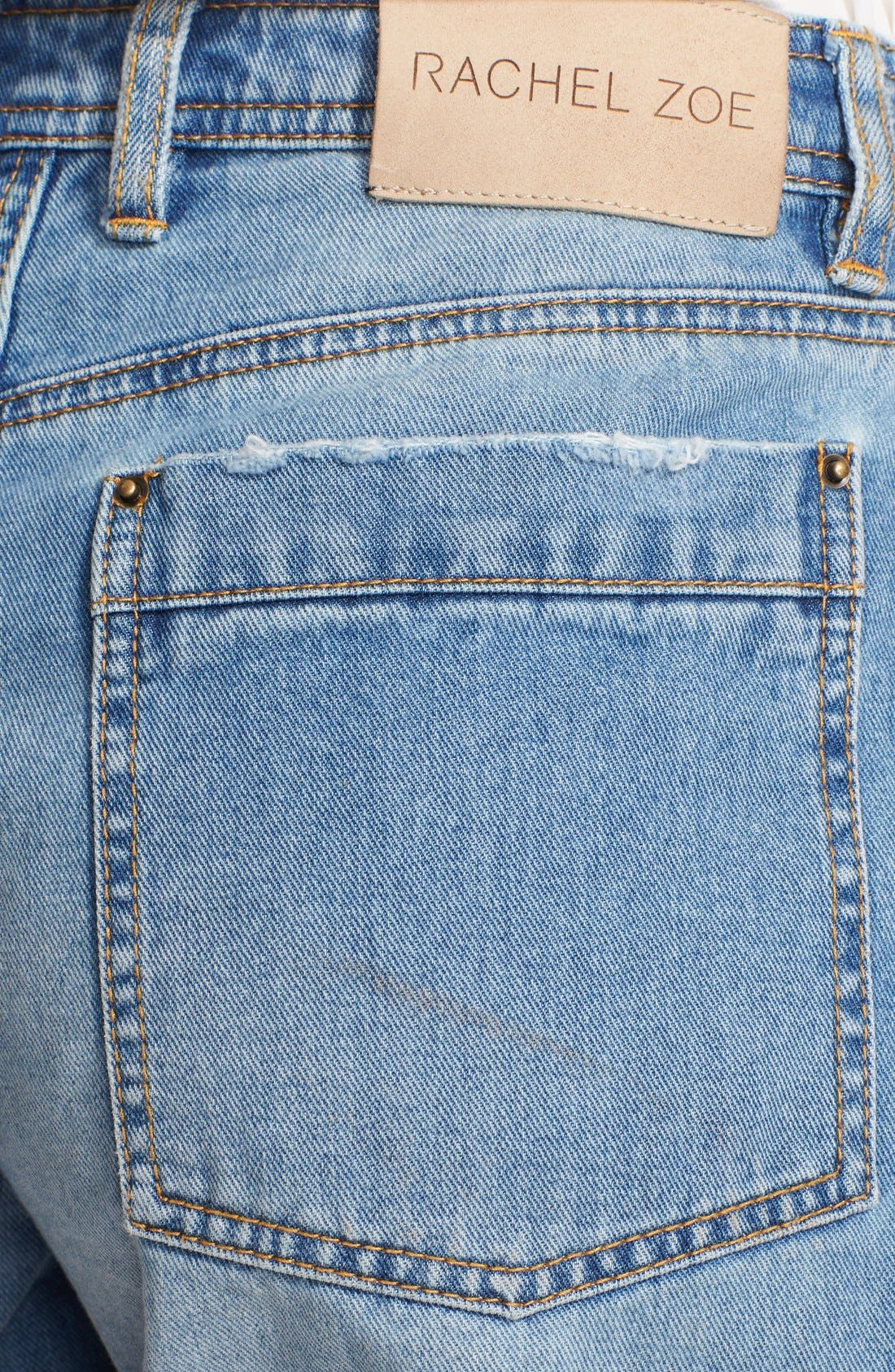 Alternate Image 3  - Rachel Zoe 'Jocelyn' Destroyed Boyfriend Jean Shorts