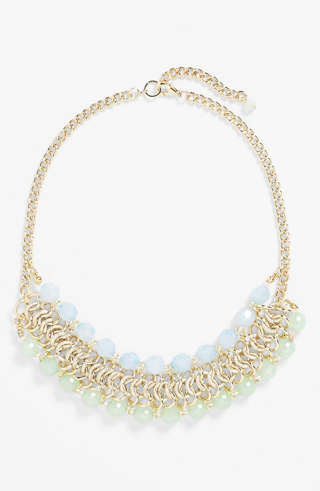 Main Image - Rachel Beaded Chain Frontal Necklace (Juniors)