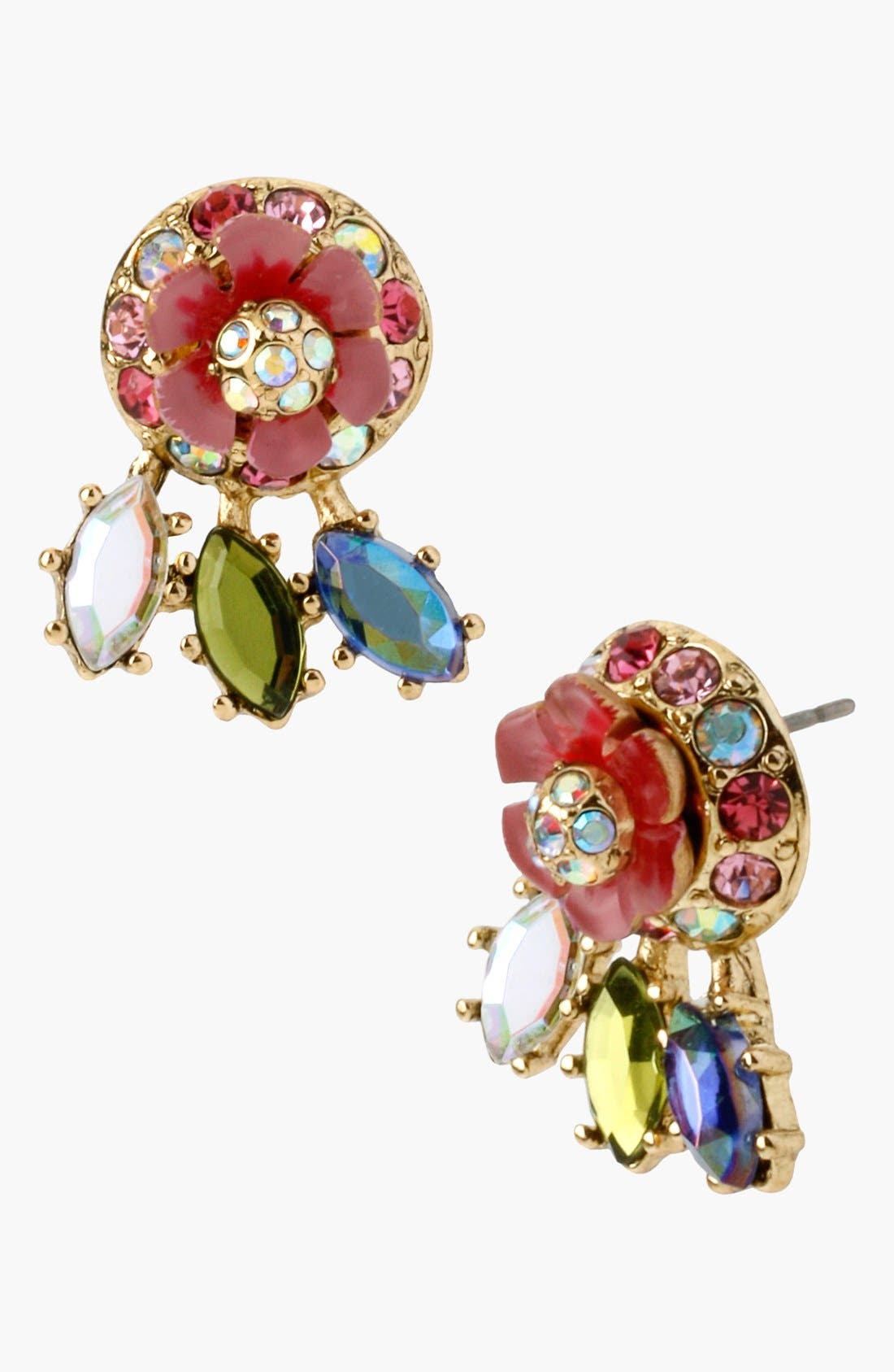 Alternate Image 1 Selected - Betsey Johnson 'Spring Glam' Stud Earrings