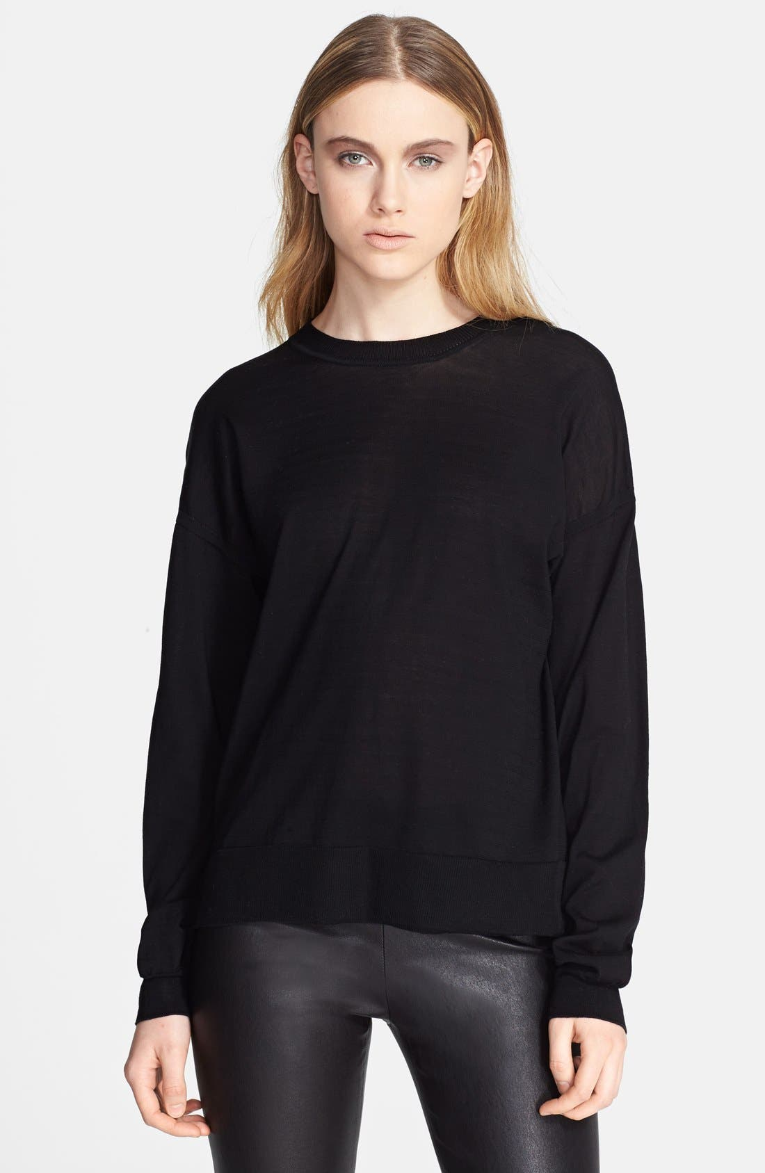 Alternate Image 1 Selected - T by Alexander Wang Drop Shoulder Sweater