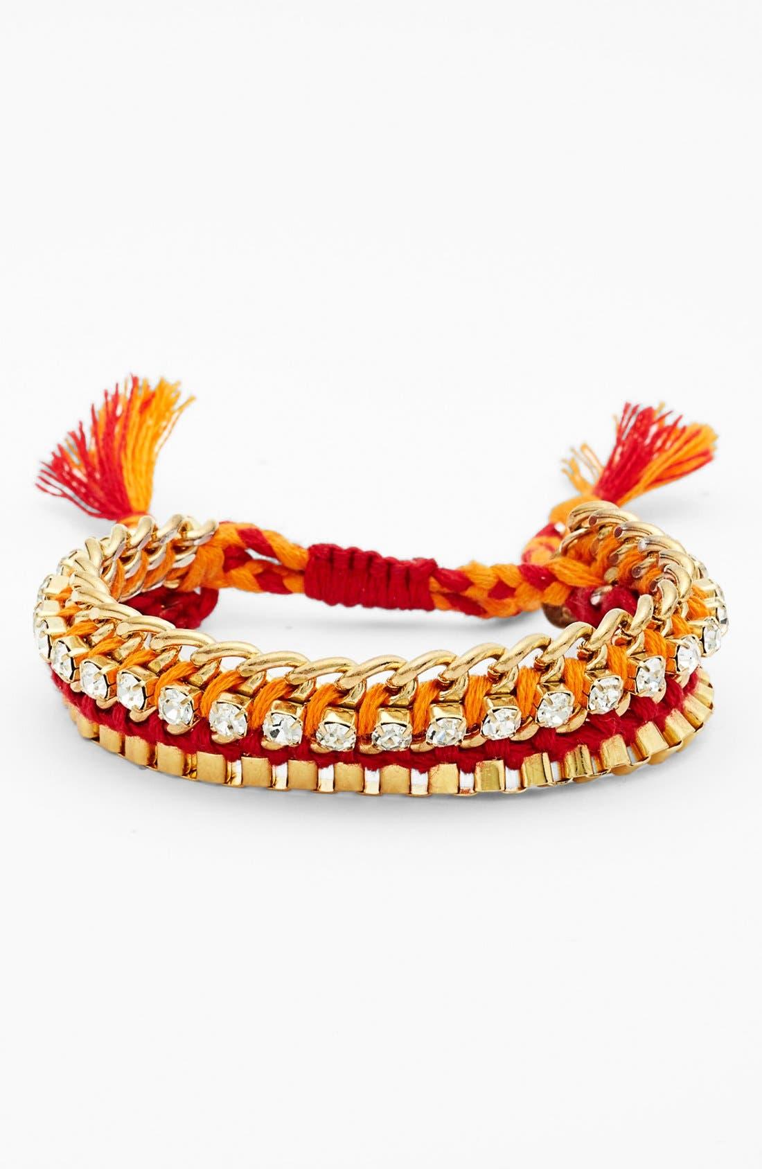 Alternate Image 1 Selected - Cara Crystal & Chain Friendship Bracelet